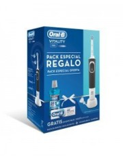CEPILLO ORAL B ELECTRICO VITALITY NEGRO PACK + REGALO DE COLUTORIO 500 ML+ REGALO PASTA 75 ML