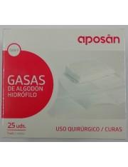 GASA ESTERIL ALGODON HIDROFILO COMPRESAS APOSAN SOBRE 5 U 25 UNIDADES