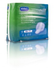 Alvita absorvente fralda incontinência urinária mens 14 unidades