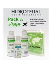 Hidrotelial pack de viagem gel 100 ml + loção100 ml+ champô 50 ml