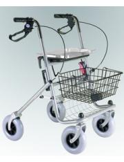 Andador rollator 4 rodas + freio - assento ad100