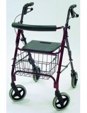 Andador rollator aluminio 4 rodas - assento ad150