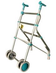 Andador rodas verde air forta aluminio