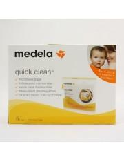 Medela sacos esterilizados reutilizável pode ir ao microondas quick clean 5 unidades
