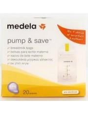 Medela sacos para a conservação de leite materno pump & save 20 sacos