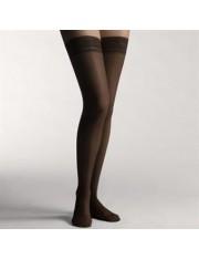 meias longas leve compressão farmalastic blonda preto tamanho-p (tornozelo 20-21 cm, vitela 31-33) cinfa um par