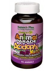 Nature's plus animal parade acidophikidz probioticos 90 comprimidos mastigáveis