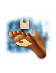 durezas do patches nas solas dos pés silicone protetor 2 unidades cc-232 comforsil
