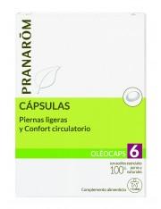 Pranarom quimiotipado oleocaps 6pernas leves e confort circulatório + 6 anos 30 capsulas