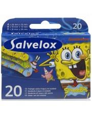 Salvelox pensos adesivos prumo esponja 20 tiras para crianças