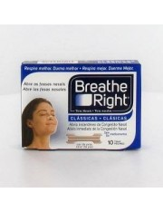 tiras nasais breathe right s-m 10 unidades