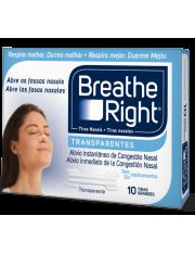 tiras nasais breathe right transparente tamanho grande 10 unidades