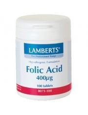 Acido folico 400 mcg 100 tablets lamberts