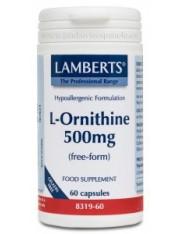 L-ornitina hci 500 mg 60 capsulas (aminoacidos) lamberts