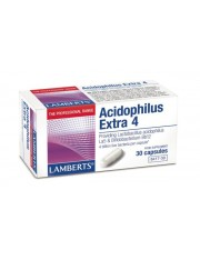 Acidophilus extra 4 (4000 milhões de bactérias amigáveis) 30 capsulas ajudas digestivas lamberts