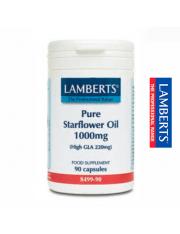 óleo de borragem pure 1000 mg. (ricos ômega 6) 90 capsulas lamberts