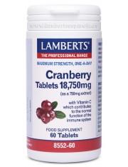 Cranberry vermelho 18750 mg (ervas) 60 comprimidos lamberts