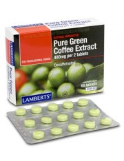 extrato de café verde puro 400gr (ervas) 60 comprimidos lamberts