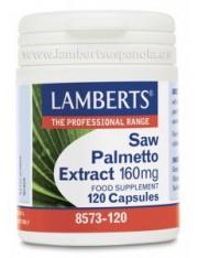 extrato de Saw Palmetto 160 mg (ervas) 120 capsulas lamberts