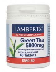 chá verde 5000 mg (Fornece 250mg.catequinas) ervas 60 comprimidos lamberts