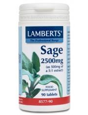 Salvia 2500mg (2,5% de acido rosmarinico) - (ervas) 90 comprimidos lamberts