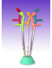 apoio muleta forta coral duplo regulação apoio muleta