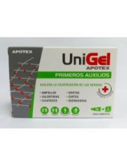 Unigel primeiros socorros curativo estéril 5 g 3 apositos