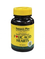 NATURE´S PLUS FOLIC ACID HEARTS 90 COMPRIMIDOS
