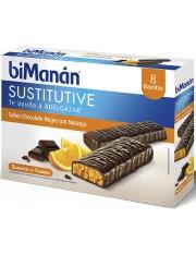 Bimanan barras de chocolate preto e laranja 40 g 8 barras