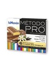 Bimanan metodo pro barra chocolate ou baunilha hiperproteica e hipocalorica 6 barras