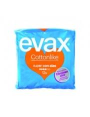 Evax Cottonlike Super asas 12 compressas