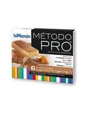 Bimanan metodo pro barra chocolate e caramelo hiperproteica e hipocalorica 6 barras