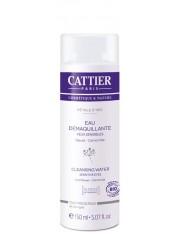 Cattier água removendo a maquiagem de olhos 150 ml