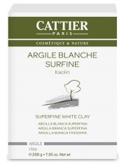 Cattier superfino argila branca 200 g