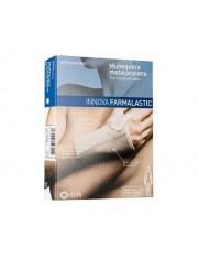 proteção para a mão, metacarpo com ferula farmalastic innova bege tamanho medio (pulso 16-18 cm) cinfa