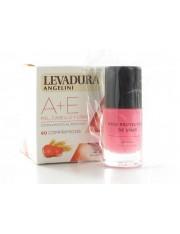 Levadura Angelini A+E pele, Cabelo e unhas 60 comprimidos + presente base protetor de unhas