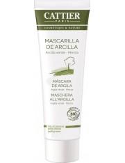 Cattier máscara de argila verde para a gordura a pele da combinação 100 g