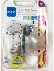 BROCHE corda de chupeta MAM CLIP IT! & COVER Broche com proteção