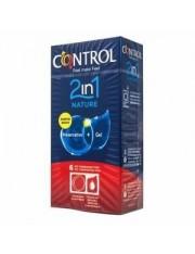 preservativos control nature 2 en 1 6 unidades