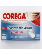 Corega oxigeno bio 3 minutos 30 Os comprimidos efervescentes