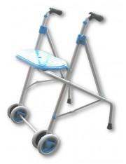 Andador rodas assento forta ara-c azul