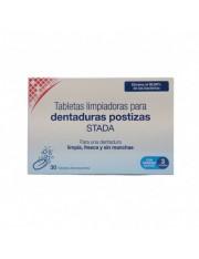 30 pastilhas de limpeza dentaduras stada